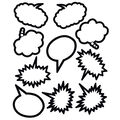 Superhero Black & White Speech Thought Bubbles Accents 30pk Set of 6
