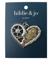 hildie & jo Gear Heart Pendant, , hi-res