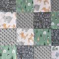 Nursery 3D Quilt Patchwork Fabric-Forest Friends