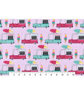 Snuggle Flannel Fabric -Ice Cream Trucks
