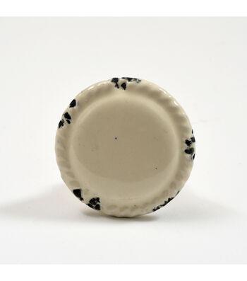 Dritz Home Ceramic Distressed Disk Knob-Cream
