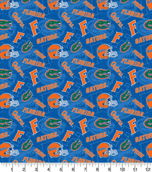 University of Florida Gators Cotton Fabric-Tone on Tone