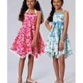 Kwik Sew Pattern K4167 Girls\u0027 Halter Dresses & Sash-Size 7-8-10-12-14