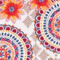 Anti-Pill Plush Fleece Fabric-Bright Watercolor Geometric