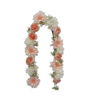 """66"""" Rose Hydrangea Garland-Cream Pink"""