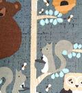 Snuggle Flannel Fabric 42\u0022-Honey Bears In Trees