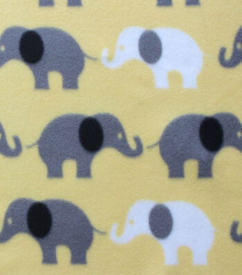"Blizzard Fleece Fabric 59""-Stand Inline Elephants"