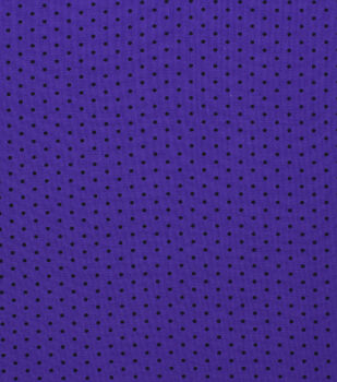 Halloween Cotton Fabric-Black Dot On Purple