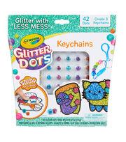Crayola Glitter Dots Keychains, , hi-res