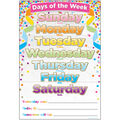 Smart Poly Chart 13\u0022x19\u0022 Confetti Days of the Week 10pk