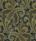 Waverly Upholstery Fabric-Tamsin/Onyx