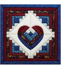 Log Cabin Heart Quilt Magic Kit-15-1/2\u0022X15-1/2\u0022