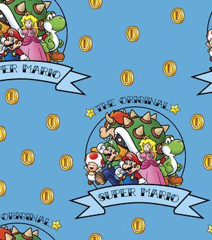 Nintendo Super Mario Brothers Fleece Fabric-The Original