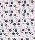 Anti-Pill Plush Fleece Fabric-Peach & Mint Paw Prints