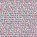 Snuggle Flannel Fabric -Dog Words