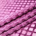 Geometric Velvet Burnout Fabric-Blackberry Wine