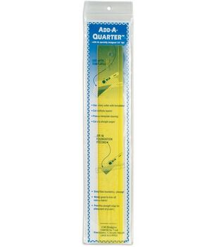 Add-A-Quarter Clear Yellow Ruler-12""