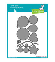 Lawn Fawn Lawn Cuts Custom Craft Die -Party Balloons, , hi-res