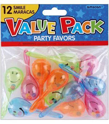 Party Favors 12/Pkg-Smile Maraca