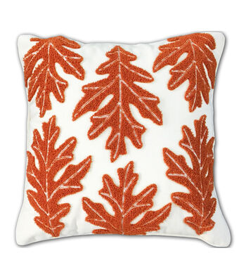 Simply Autumn Boucle Leaf Pillow