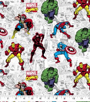 Marvel Cotton Fabric-Action Comic