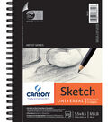 Canson Universal Spiral Sketch Book 5.5\u0022X8.5\u0022-100 Sheets