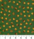 Fall Blessings Cotton Fabric-Mini Acorns Green