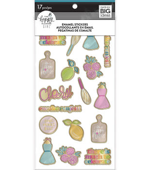 The Happy Planner Girl Enamel Stickers-Happy Hostess