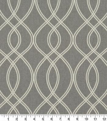 """Robert Allen @ Home Lightweight Decor Fabric 55""""-Helix Ogee Greystone"""