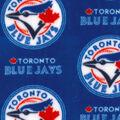 Toronto Blue Jays Fleece Fabric -Logo