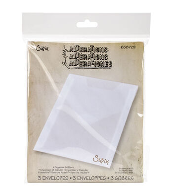 Sizzix Tim Holtz Alterations 3 pk Plastic Storage Envelopes