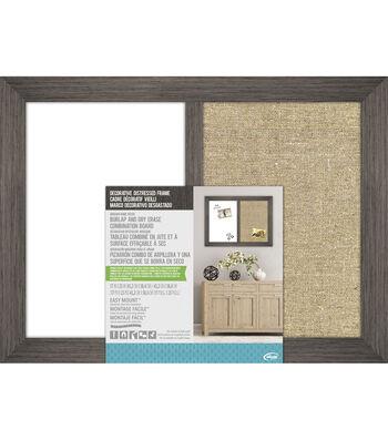 The Board Dudes Burlap & Dry Erase Combination Board