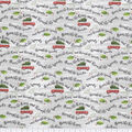 Christmas Cotton Fabric-Over the River on White