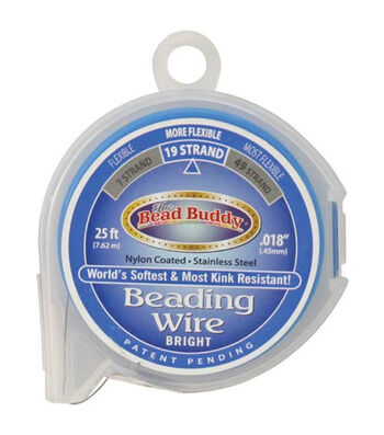 The Bead Buddy 19-Strand 25'x0.018'' Beading Wire