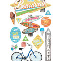 Paper House 3D Stickers-Boardwalk & Beach
