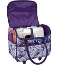 Everything Mary Rolling Sewing Case With Handle- Purple