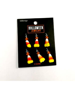 hildie & jo Halloween Jewelry 6 pk Candy Corn Charms