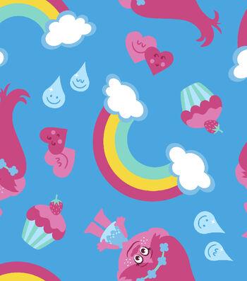 Disney® Trolls Cotton Fabric 43''-Rainbows & Poppy Raincoat