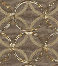HGTV Home Sheer Fabric-Sparkle Plenty Gold