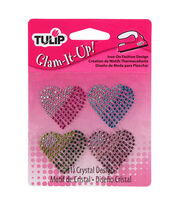Tulip Glam-It-Up! Iron-On Fashion Designs Hearts Pack, , hi-res