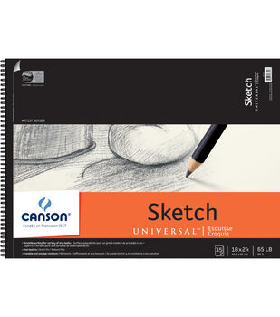"""Canson 18""""x24"""" Universal Sketch Paper Pad"""