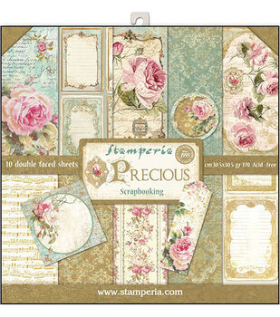 Stamperia Precious Gift 10-sheet 12''x12'' Double-sided Paper Pad