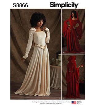 Simplicity Pattern S8866 Misses' & Miss Petite Costumes-Size R5 (14-22)
