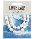 John Bead Earth\u0027s Jewels Freshwater Pearls Rice Shape-White 8-9mm