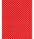 Holiday Showcase Christmas Cotton Fabric 43\u0027\u0027-Ditsy Snowflakes on Red