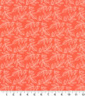 Quilter\u0027s Showcase Cotton Fabric 44\u0022-Leaf Coral