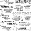 Fiskars Quotes Clear Stamps Good Times