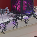 Maker\u0027s Halloween Decor 20 ct LED Light Spooky Floral Garland