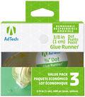 Ad-Tech Removeable Glue Dots 3/Pkg-Clear .375\u0022