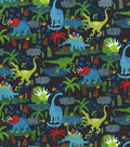 Novelty Cotton Fabric 44\u0027\u0027-Dinos on Navy